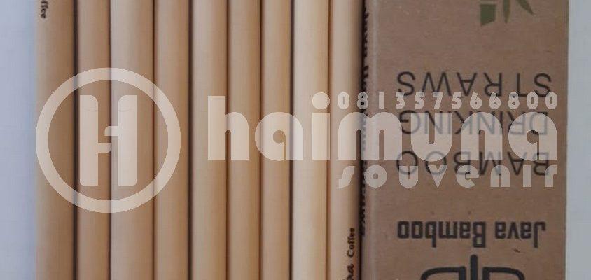 souvenir sedotan bambu