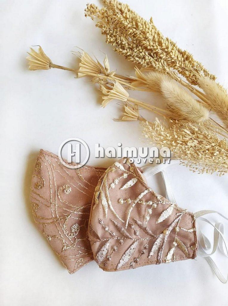 souvenir pernikahan masker
